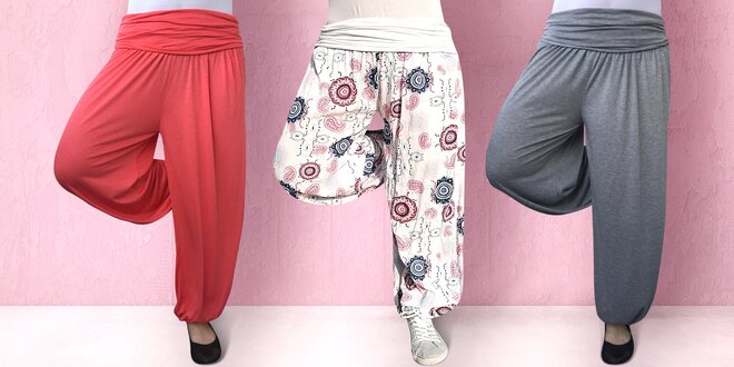 Dámské harémové kalhoty v mnoha barvách a vzorech