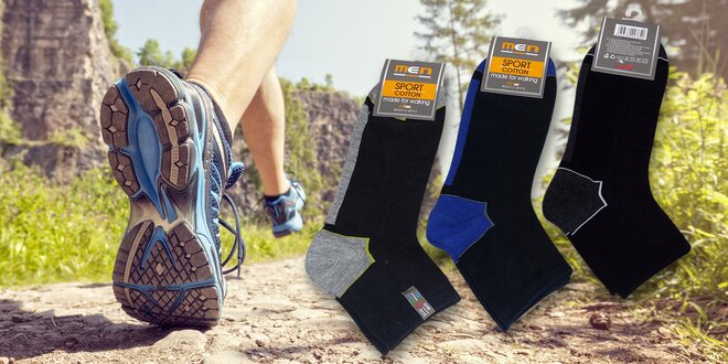 Balení 6 párů pánských sportovních ponožek