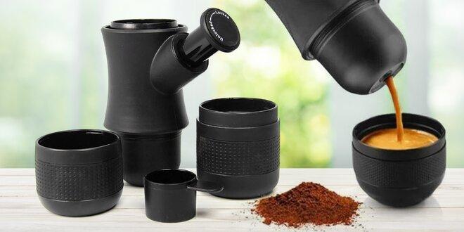 Přenosný ruční kávovar na espresso, objem 150 ml
