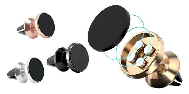 Kovový otočný magnetický držák na mobil do mřížky