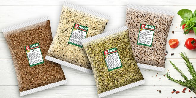 Semínka v balení 500 i 1000 g: lněná i konopná
