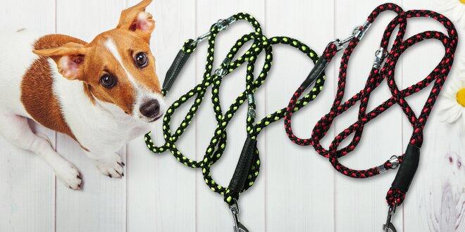 Přepínací vodítko z pleteného lana pro psy