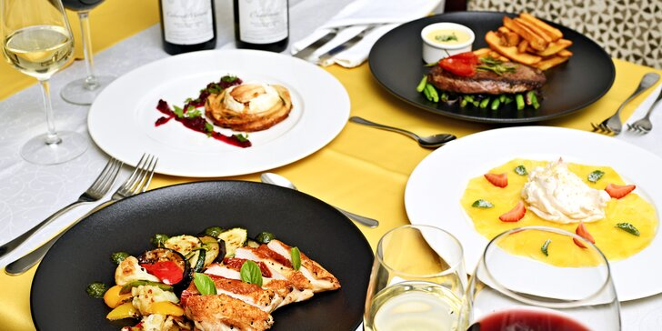 Romantika v centru Prahy: privátní wellness a tříchodové menu pro dva