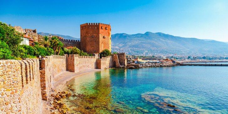 Na dovolenou do Turecka: letecká doprava, hotel jen kousek od pláže, bazén, all inclusice