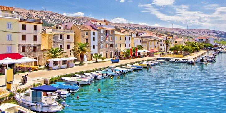 Na dovolenou do Chorvatska: hotel s polopenzí v centru Pagu, 150 m od pláže