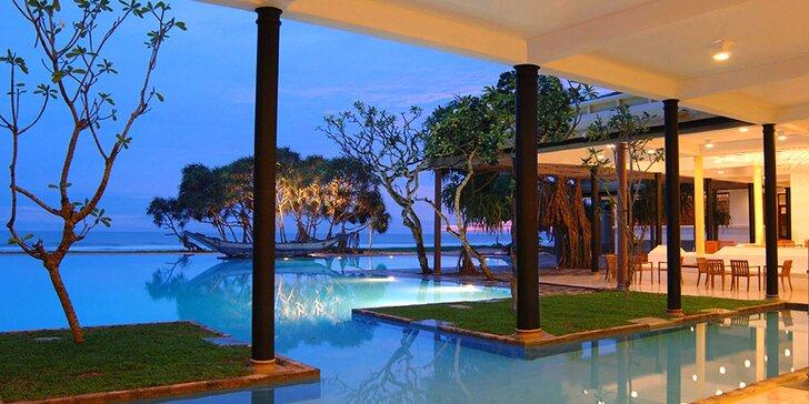 Přepychový 5* resort na Srí Lance: 6–12 nocí, polopenze, 2 bazény, vířivka