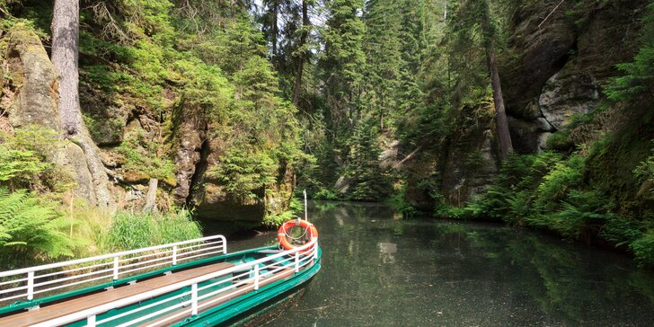 Výlet do Saského Švýcarska: Soutěskou Obere Schleuse v údolí říčky Křinice