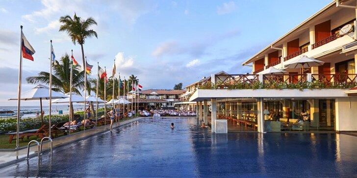 3* hotel na Srí Lance: 6–12 nocí, polopenze, 2 bazény, přímo na pláži