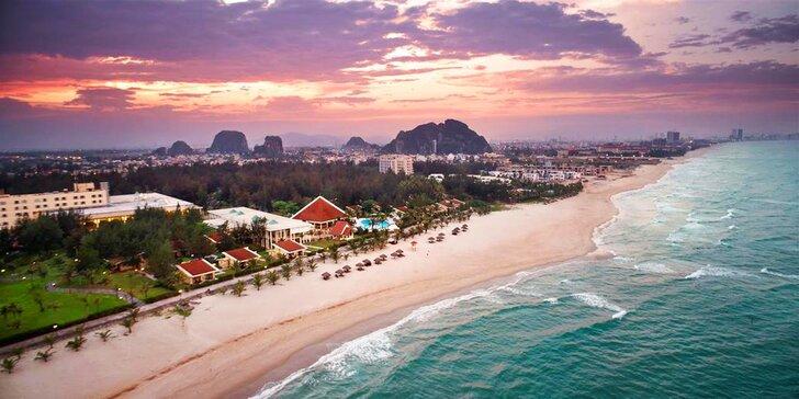 Exotický 4* resort ve Vietnamu: 6–12 nocí, polopenze, 2 bazény, přímo u pláže