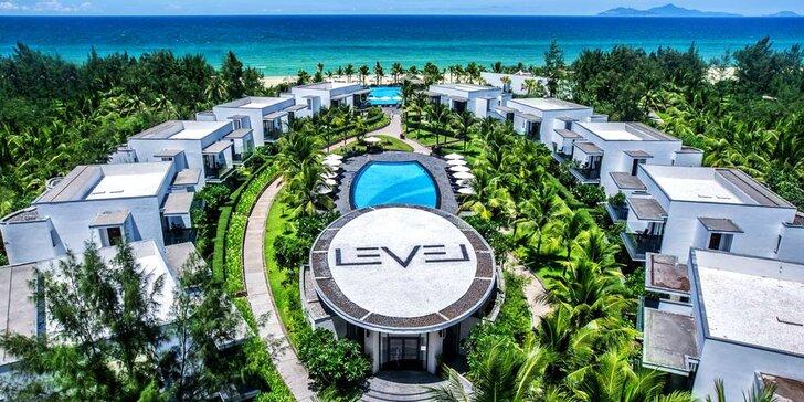 Exotický 4* hotel ve Vietnamu: 6–12 nocí, polopenze, 3 bazény, přímo u pláže