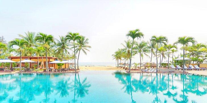 Přepychový 5* resort ve Vietnamu: 6–12 nocí, polopenze, sladkovodní bazén