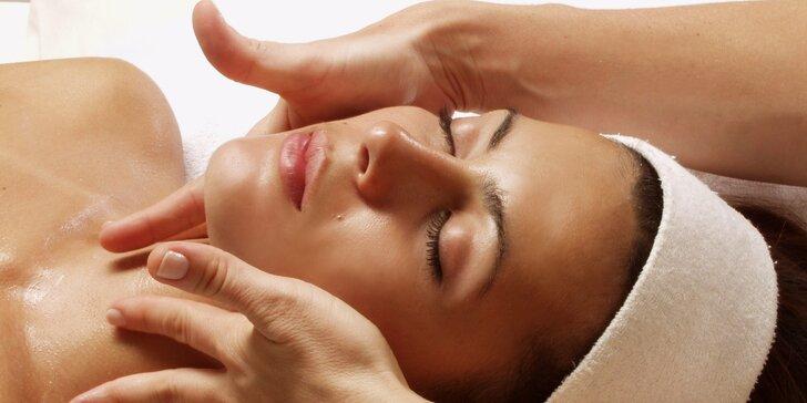 Liftingová omlazující masáž obličeje včetně čištění pleti