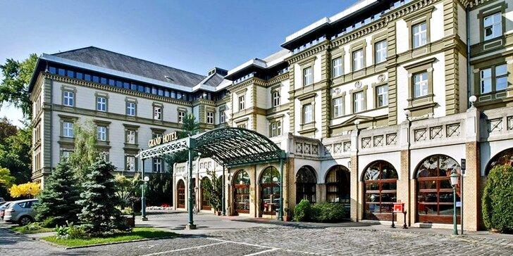 Luxusní hotel na ostrově v centru Budapešti: polopenze a neomezený wellness