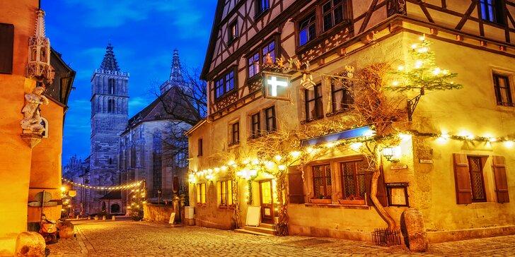 Prožijte vánoční romantiku v bavorském městě Vánoc Rothenburgu