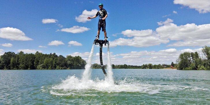 Flyboard: let nad hladinou v Praze, Brně, Olomouci, Plzni i na Mácháči
