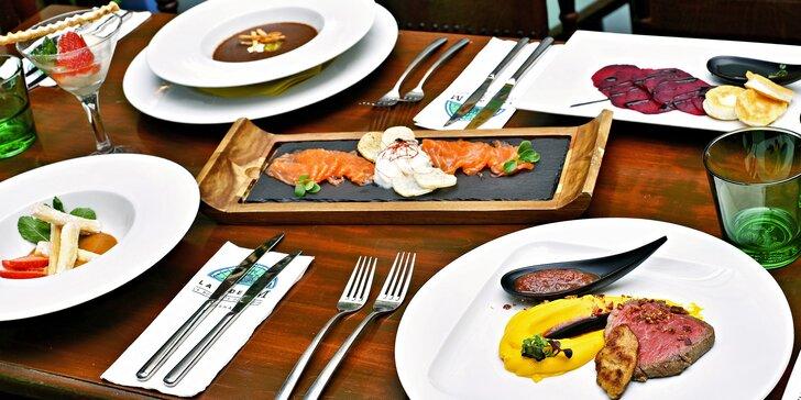6chodové menu v La Bodeguita: losos, svíčková sous-vide i víno či koktejly