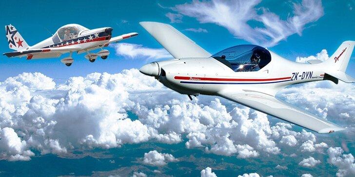 Staňte se na chvíli pilotem: až 60 min. řízení sportovního letounu