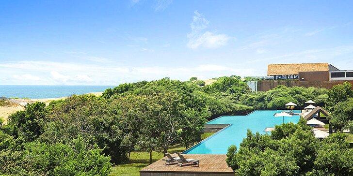 Přepychový 5* resort na Srí Lance: 6–12 nocí s polopenzí, bazénem a fitness