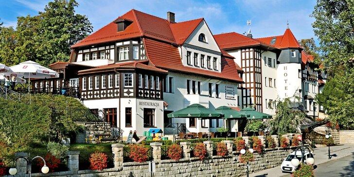 Historický hotel v centru malebných polských lázní: wellness pobyt s polopenzí