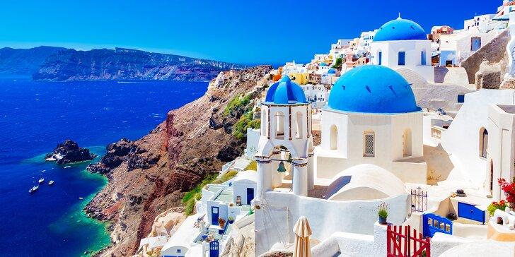 Romantické Řecko: ostrov Santorini letecky, hotel jen 300 m od pláže