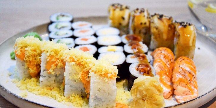 Na sushi do pasáže Alfa: 26 kousků s lososem, krabím krémem i avokádem