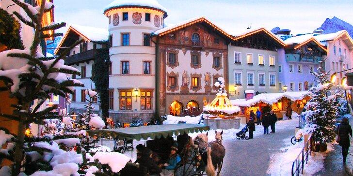 Kouzlo vánočních trhů v oblasti Berchtesgadenska se solnými doly a termály