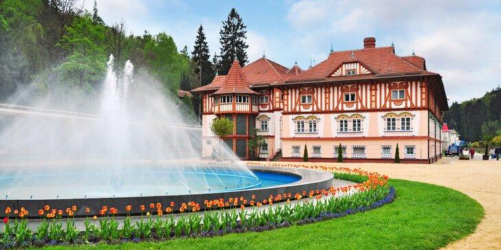 Lázeňský pobyt v Luhačovicích: snídaně či polopenze, bazén i wellness procedury