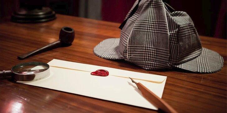 Otestujte detektivní nadání: úniková hra Sherlockova kancelář pro 2–5 hráčů