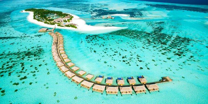Luxusní líbánky na Maledivách: 6–12 nocí v 5* hotelu s all inclusive, bazénem a vířivkou