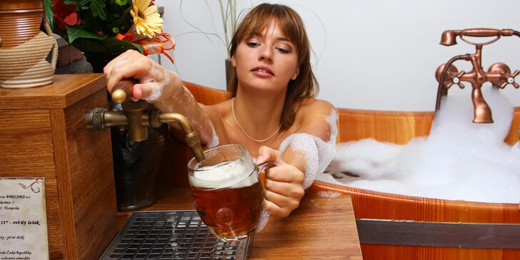 80 minut v pivních lázních pro 2: ozdravná kúra a uvolňující relaxace