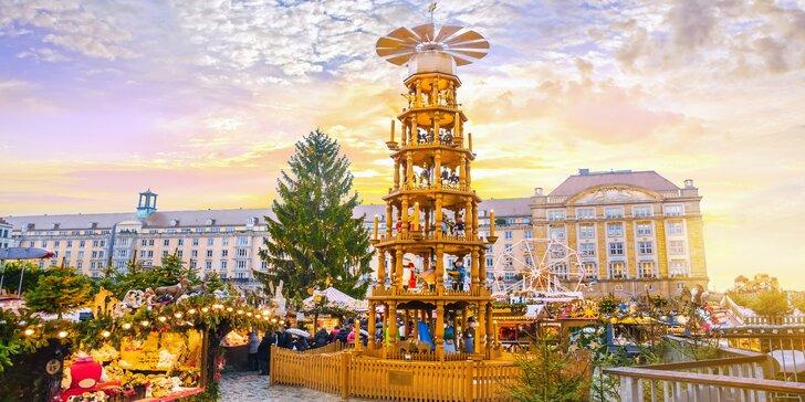 Adventní výlet do Drážďan: trhy, nákupy, prohlídka města a třeba i plavba lodí