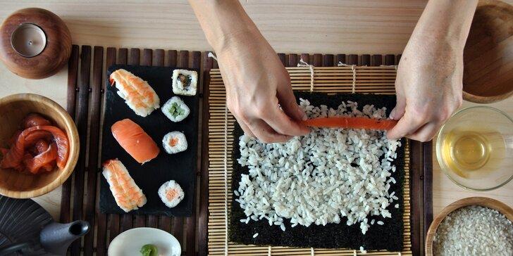 Kurz přípravy sushi v Brně, Praze a Blansku: teorie, praxe, degustace i sushi na doma