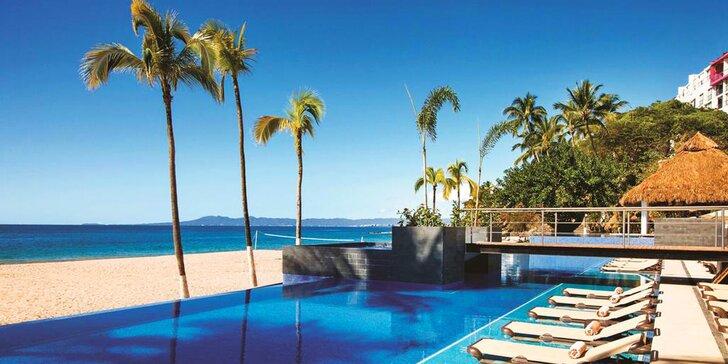 Exotický 5* plážový resort v Mexiku: 7–13 nocí s all inclusive, 5 bazénů, fitness