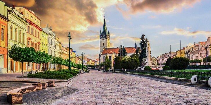 Romantika v centru Prešova: 4* hotel se snídaněmi a romantickou večeří