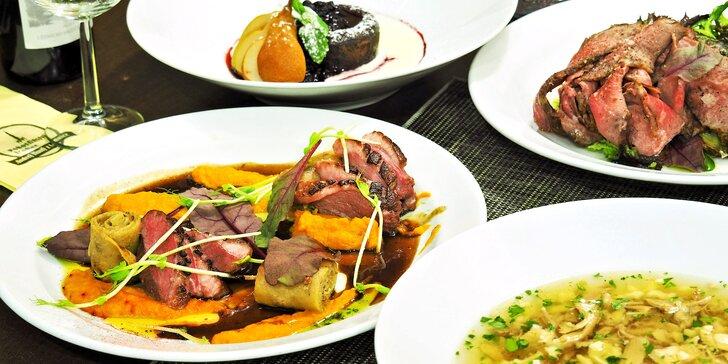 4chodové menu v restauraci oceněné nejvyšším počtem hvězd od Pohlreicha