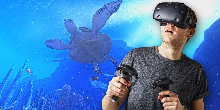 Adrenalin ve virtuální realitě: 1, 2 nebo 3 hod. hraní pro 1–10 hráčů