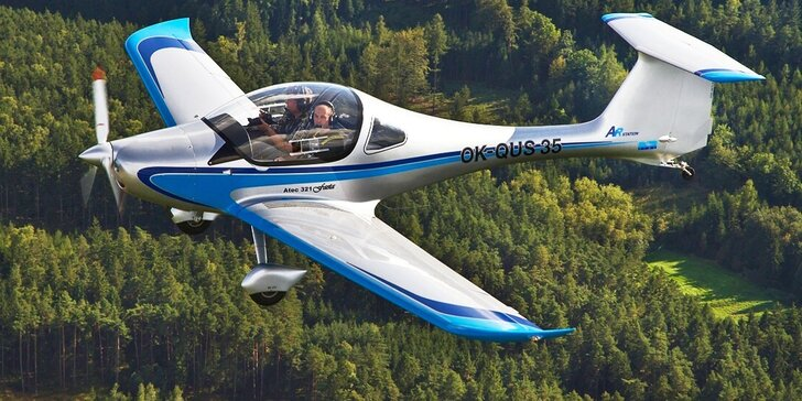 Vzhůru do výšin: Let sportovním letounem z letiště Příbram