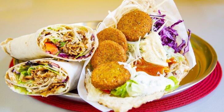 Dobrota, která zasytí: kebab, twister nebo falafel a nápoj podle výběru