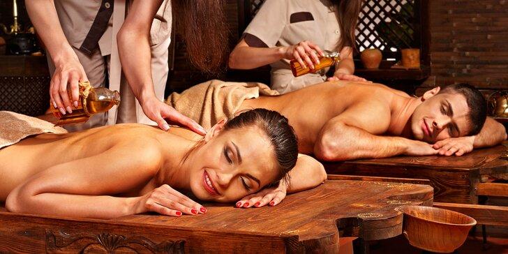 Párová masáž: tradiční či olejová thajská nebo teplá masáž s aroma olejem