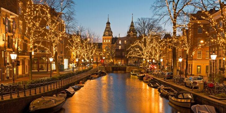 Adventní Amsterdam i Brusel: noc se snídaní, adventní trhy i Festival světel