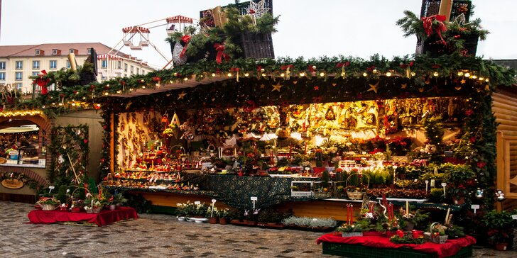 Výlet na adventní trhy v Drážďanech: doprava autobusem i služby průvodce