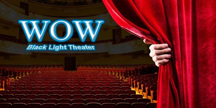 30% sleva na 2 vstupenky na představení WOW v Black Light Theatre