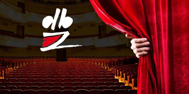 2 vstupenky na vybraná představení Divadla Bez zábradlí s 25% slevou