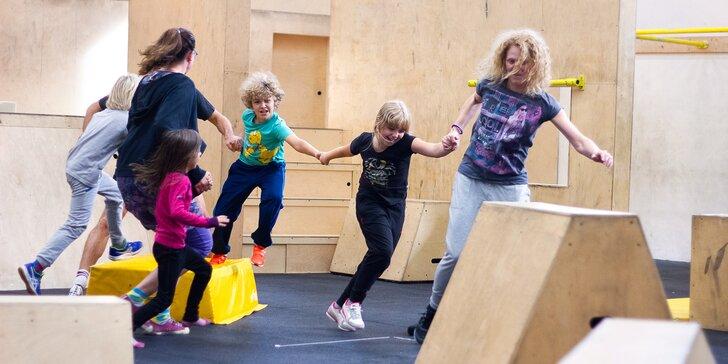 Parkour pro rodiče s dětmi: 120 minut společného tréninku v In Motion Academy