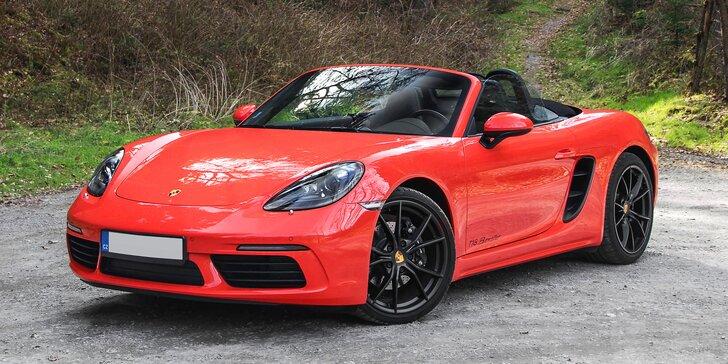 20–60 min. řízení nového kabrioletu Porsche 718 s výkonem 380 koní