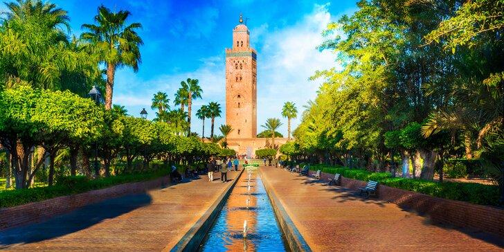 Město z pohádek 1000 a 1 noci: Marrakéš letecky s ubytováním a snídaní