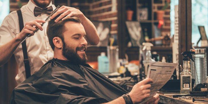 Pánský módní barber střih v Leo Barber Shopu na Andělu