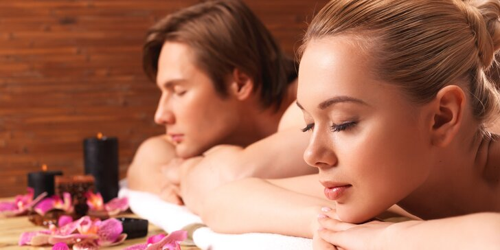 Intenzivní relax pro dva: Sauna a masáž dle výběru 60 i 90 minut
