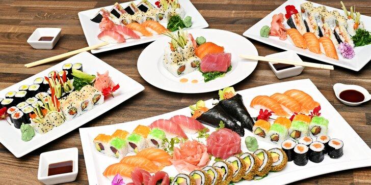 Neomezená konzumace ze sushi baru v restauraci na Střeleckém ostrově
