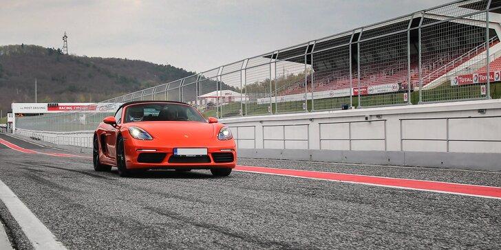 1–5 kol v Porsche 718 Cabrio na skutečném závodním okruhu Autodrom Most